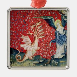 The Woman Receiving Wings to Flee the Dragon Christmas Ornament