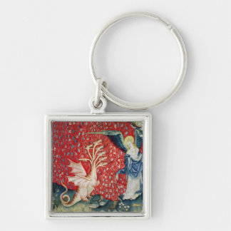 The Woman Receiving Wings to Flee the Dragon Key Ring