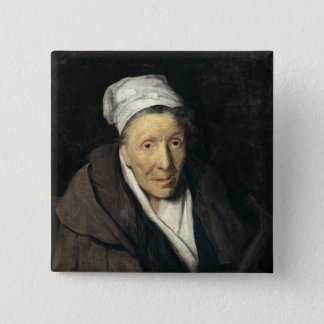 The Woman with Gambling Mania, 1819-24 15 Cm Square Badge