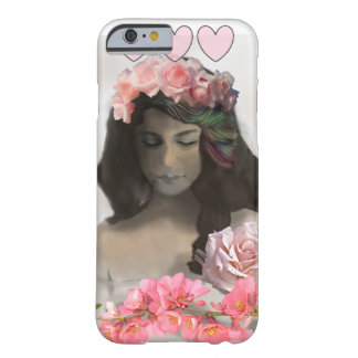 The woman with roses barely there iPhone 6 case