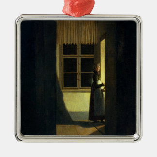 The Woman with the Candlestick, 1825 Christmas Ornament