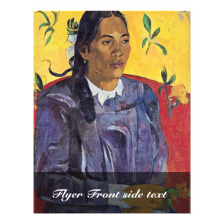 The Woman With The Flower By Gauguin Paul 21.5 Cm X 28 Cm Flyer