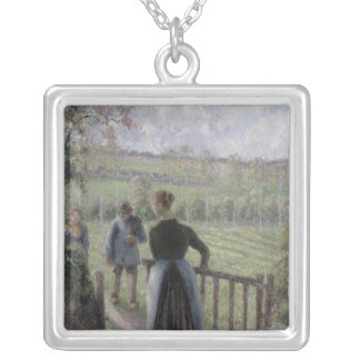 The Woman with the Geese, 1895 Silver Plated Necklace
