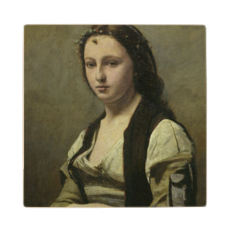 The Woman with the Pearl, c.1842 Wood Coaster
