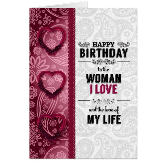the Woman You Love Birthday in Pink and