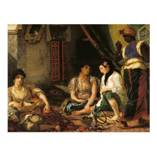 The Women of Algiers in their Apartment, 1834 Postcard
