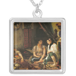 The Women of Algiers in their Apartment, 1834 Silver Plated Necklace