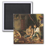 The Women of Algiers in their Apartment, 1834 Square Magnet