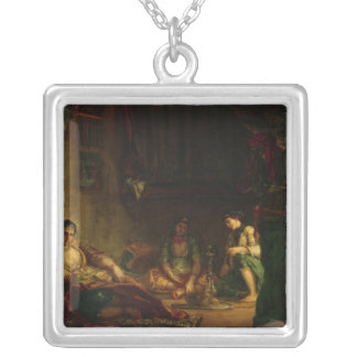 The Women of Algiers in their Harem, 1847-49 Silver Plated Necklace