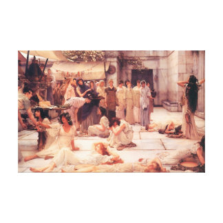 The Women Of Amphissa - Canvas Reproduction Canvas Print