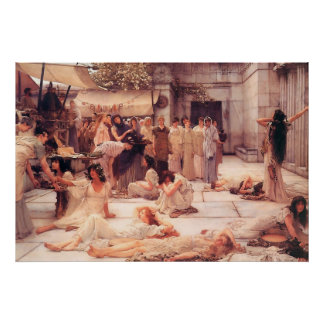 The Women Of Amphissa - Reproduction Art Poster