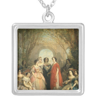 The Women of the Comedie Francaise Square Pendant Necklace