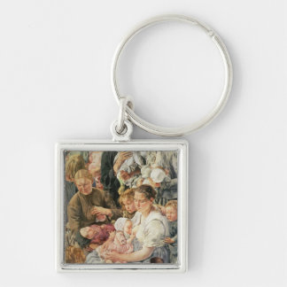 The Women right panel from The Ages of the Silver-Colored Square Key Ring