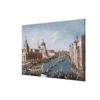 The Women's Regatta on the Grand Canal, Venice Canvas Print