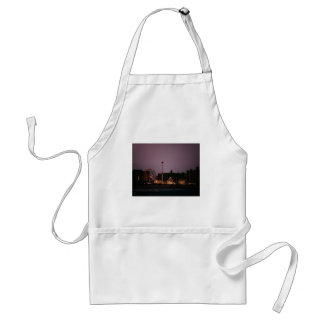The Wonder Wheel and Cyclone at Night Adult Apron