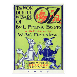 The Wonderful Wizard of Oz -- 1900 Postcard