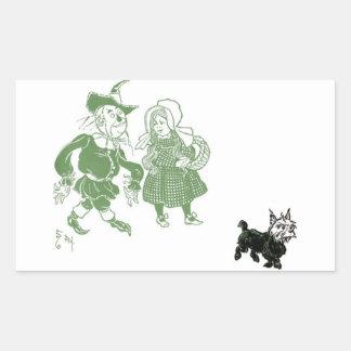 The wonderful wizard of Oz Rectangular Sticker