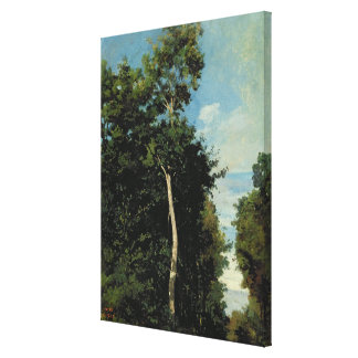 The Wood on the Cote de Grace in Honfleur Canvas Print