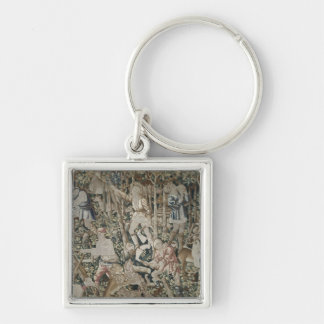 The Woodcutters, Tournai Workshop Silver-Colored Square Key Ring
