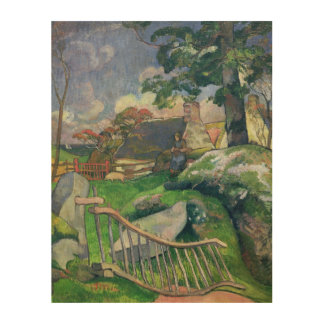 The Wooden Gate or, The Pig Keeper, 1889 Wood Print