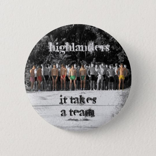 The Woodlands High School CC Team Fall 2009, hi... 6 Cm Round Badge