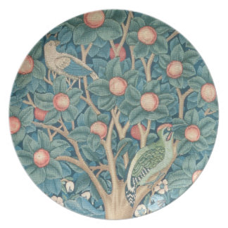 The Woodpecker Tapestry, detail of the woodpeckers Dinner Plate