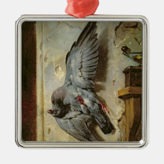 The Woodpigeon, c.1857 Silver-Colored Square Decoration