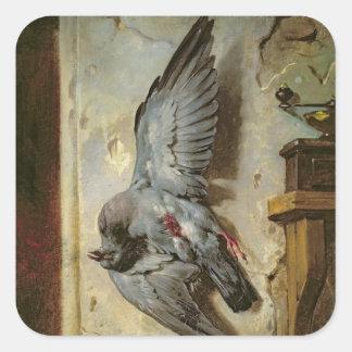 The Woodpigeon, c.1857 Square Sticker