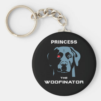 The Woofinator Labrador Basic Round Button Key Ring