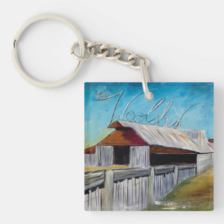 The Woolshed Double-Sided Square Acrylic Key Ring