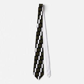The word Ahimsa glowing in the dark Tie