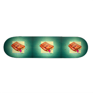 """The Word"" art  decorated Skateboard"