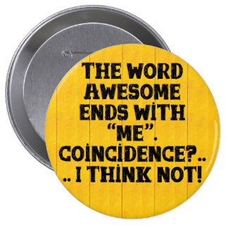 The word Awesome - Button