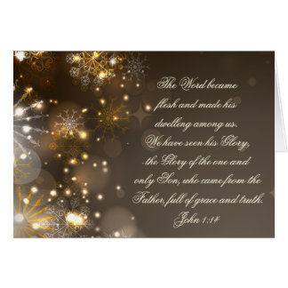 The Word Became Flesh Bible Verse John 1:14 Custom Card