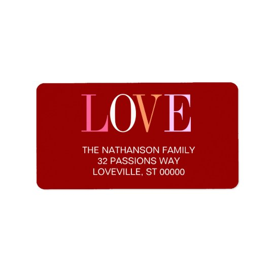 The Word is Love Address Label