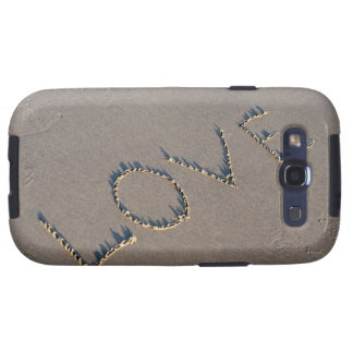 The word Love spelled out in the sand. Samsung Galaxy S3 Case
