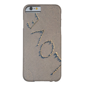 The word Love spelled out in the sand. Barely There iPhone 6 Case
