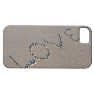 The word Love spelled out in the sand. iPhone 5 Cases