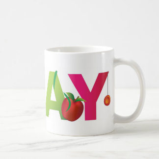 the word play basic white mug
