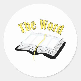 The Word Round Sticker