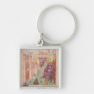 The Works of Virgil with Commentary by Servius Silver-Colored Square Key Ring