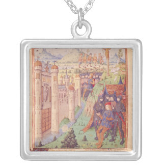 The Works of Virgil with Commentary by Servius Silver Plated Necklace