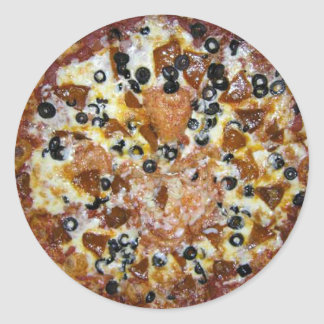 The Works Pizza Classic Round Sticker