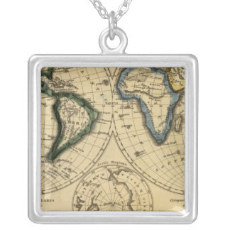 The World 3 Silver Plated Necklace