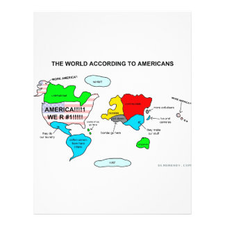 The World According to Americans 21.5 Cm X 28 Cm Flyer