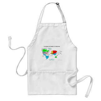The World According to Americans Standard Apron