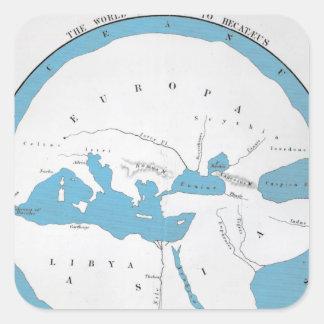 The world according to Hecataeus Square Sticker