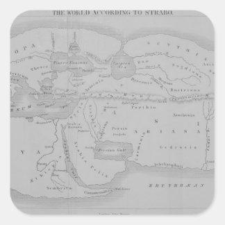 The World According to Strabo Square Sticker