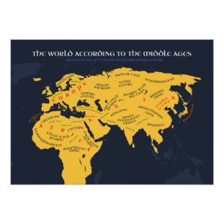 The World According to the Middle Ages Poster