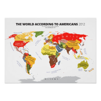 The World According to the USA Poster